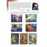 Котик с клубочками Раскраска картина по номерам на картоне Белоснежка