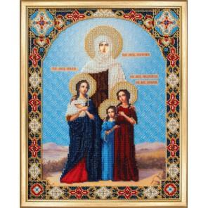 Икона Вера, Надежда, Любовь и мать София Вышивка бисером Набор Чаривна Мить