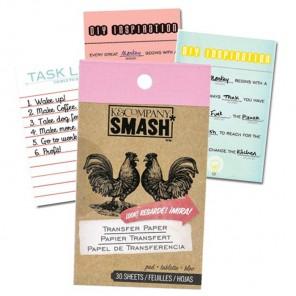 Переводная бумага Блокнот Smash ( Смэш ) для скрапбукинга Transfer Paper K&Company