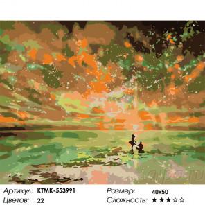 Сложность и количество цветов Неземное небо 2 Раскраска картина по номерам на холсте KTMK-553991
