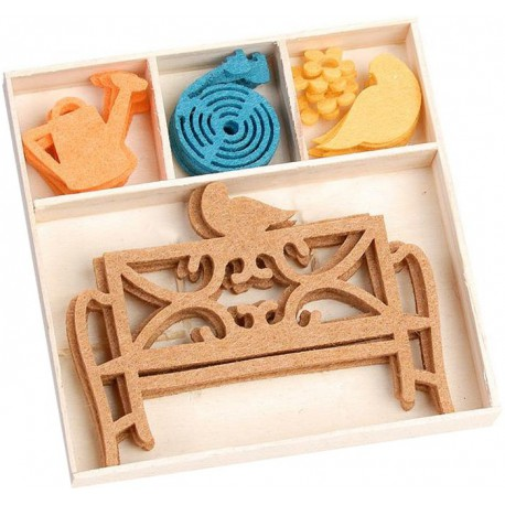 Садовая скамейка Набор из фетра декоративные элементы для скрапбукинга, кардмейкинга cArt-Us