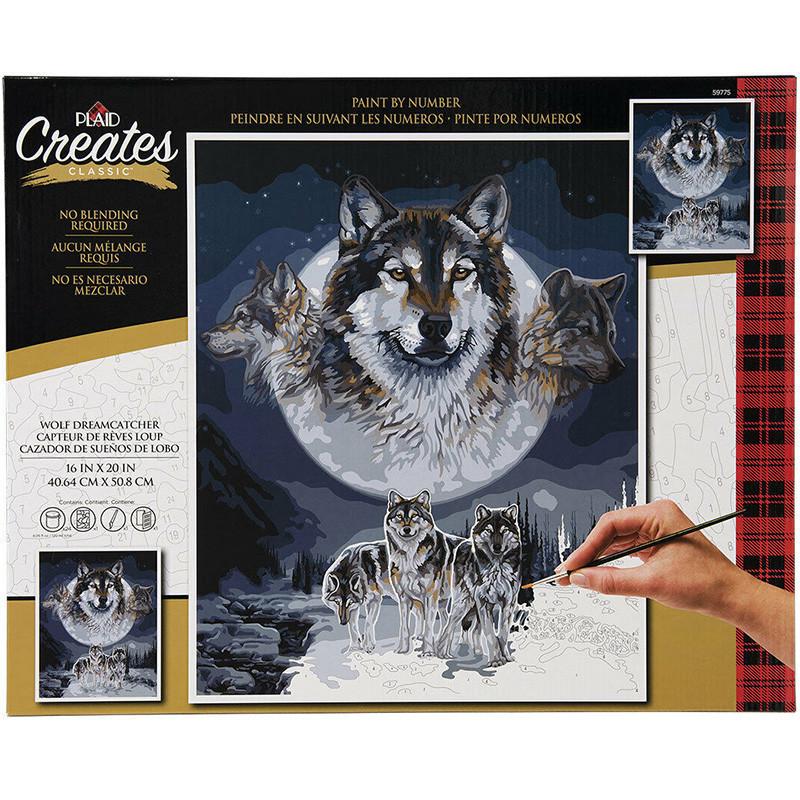 PLD-59775 Волк, ловец снов Wolf Dreamcatcher Раскраска ...
