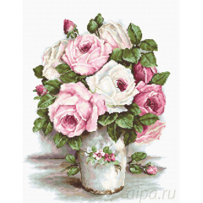 Смешанные розы Набор для вышивания Luca-S B2329