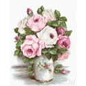 Смешанные розы Набор для вышивания Luca-S