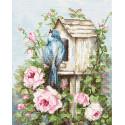 Птичий дом и розы Набор для вышивания Luca-S