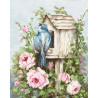 Птичий дом и розы Набор для вышивания Luca-S B2352