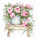 Цветы на табурете Набор для вышивания Luca-S