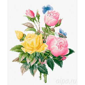 Желтые и бенгальские розы Набор для вышивания Luca-S BU4003