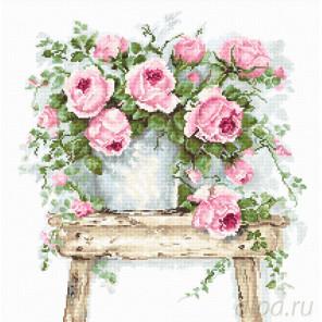 Цветы на табурете Набор для вышивания Luca-S BA2332
