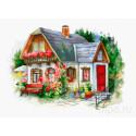 Красивый загородный домик Набор для вышивания Luca-S