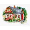 Красивый загородный домик Набор для вышивания Luca-S BU4005