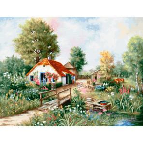 Деревенский пейзаж Набор для вышивания Luca-S BU4011