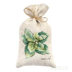 Мята Набор для вышивания мешочка для саше Luca-S PM1235