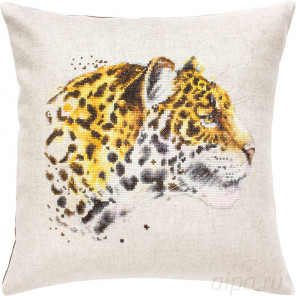 Леопард Набор для вышивания подушки Luca-S PB183