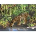 Леопард у воды Набор для вышивания Риолис 0023РТ