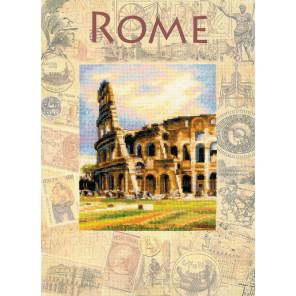 Фрагмент Города мира. Рим Набор для вышивания Риолис 0026РТ