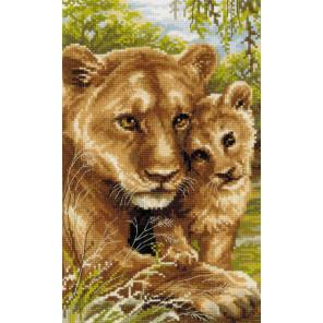 Львица с львенком Набор для вышивания Риолис 1262