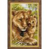 В рамке Львица с львенком Набор для вышивания Риолис 1262