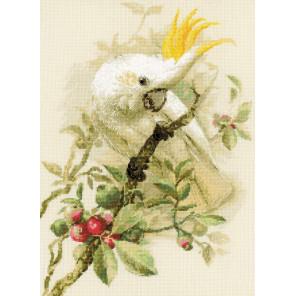 Белый какаду Набор для вышивания Риолис 1362
