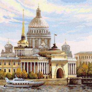В рамке Санкт-Петербург. Адмиралтейская набережная Набор для вышивания Риолис 1283