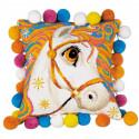 В рамке Златогривая лошадка Набор для вышивания подушки Риолис 1380