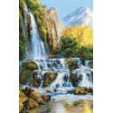 Пейзаж с водопадом Набор для вышивания Риолис 1194