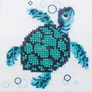 2_2 Морская черепаха Набор для вышивания бисером Риолис