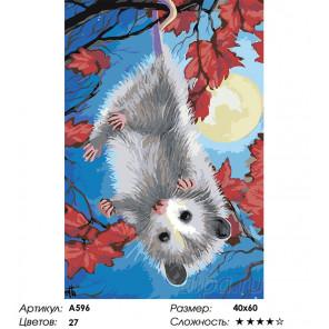 Сложность и количество цветов Веселый мышонок Раскраска картина по номерам на холсте A596