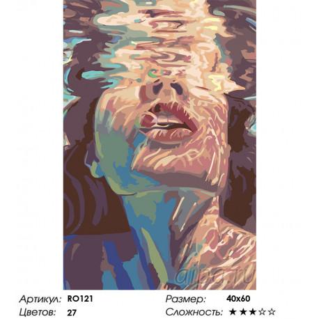под водой раскраска картина по номерам на холсте Ro121
