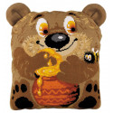 Медвежонок Набор для вышивания подушки Риолис