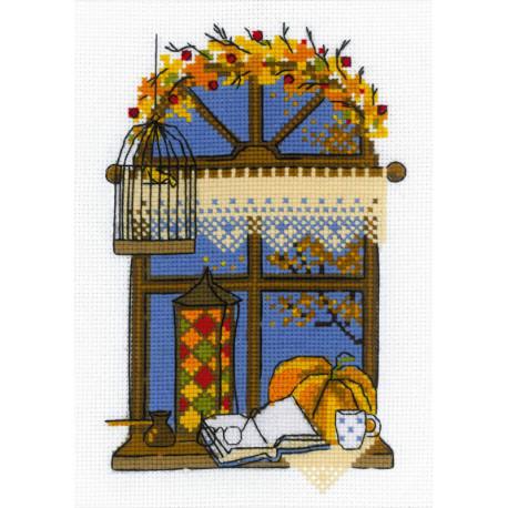 Осеннее окошко Набор для вышивания Риолис 1593