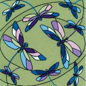 Витраж стрекозы Набор для вышивания подушки, пано Риолис 1655
