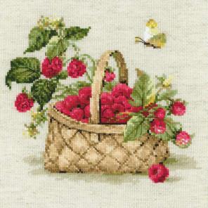 Малина в лукошке Набор для вышивания Риолис 1448