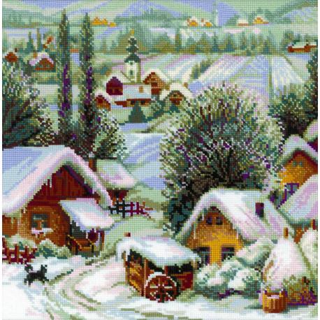 Сербское село Набор для вышивания Риолис 1670
