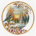 Тарелка с синицей Набор для вышивания Риолис 1692