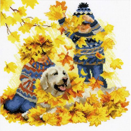 Осенние каникулы Набор для вышивания Риолис 1694