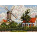 Ветряная мельница по мотивам картины К.Писсаро Набор для вышивания Риолис