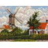 Ветряная мельница по мотивам картины К.Писсаро Набор для вышивания Риолис 1702