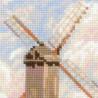 3_2 Ветряная мельница по мотивам картины К.Писсаро Набор для вышивания Риолис