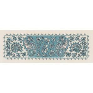 Морской конёк Набор для вышивания салфетки, пано Риолис 1703