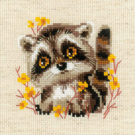 Маленький енотик Набор для вышивания Риолис 1754