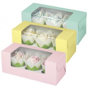 Пастельные цвета Набор коробочек для кексов с окошком Wilton ( Вилтон )