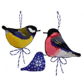В рамке Зимние птички Набор для вышивания Риолис 1742