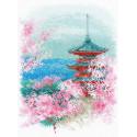 Сакура. Пагода Набор для вышивания Риолис 1743