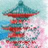 2_2 Сакура. Пагода Набор для вышивания Риолис