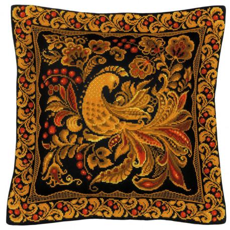 В рамке Хохлома Набор для вышивания подушки, пано Риолис 1758