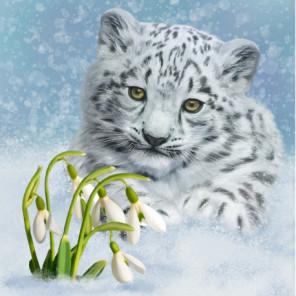 Снежный барс Алмазная вышивка мозаика Алмазное Хобби