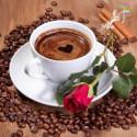 Кофе и красная роза Алмазная вышивка мозаика Алмазное Хобби
