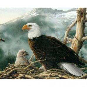 Орел и орленок в гнезде Алмазная вышивка мозаика Алмазное Хобби