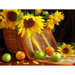 Подсолнухи и яблоки Алмазная вышивка мозаика Алмазное Хобби